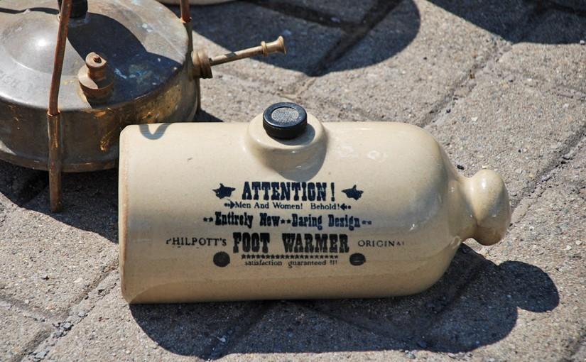Alte Wärmflasche aus Zeiten, in denen geplante Obsoleszenz noch ein Fremdwort war