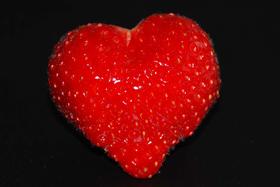 Erdbeere in Herzform