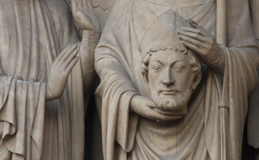 Statue, die ihren Kopf in den Händen hält - als Symbol dafür, dass Bilder ohne Worte nicht immer sinnvoll sind
