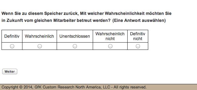 Schlecht übersetzte Umfrage