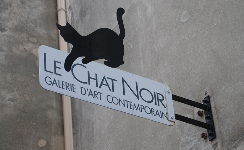 Schild von Chat Noir in Paris